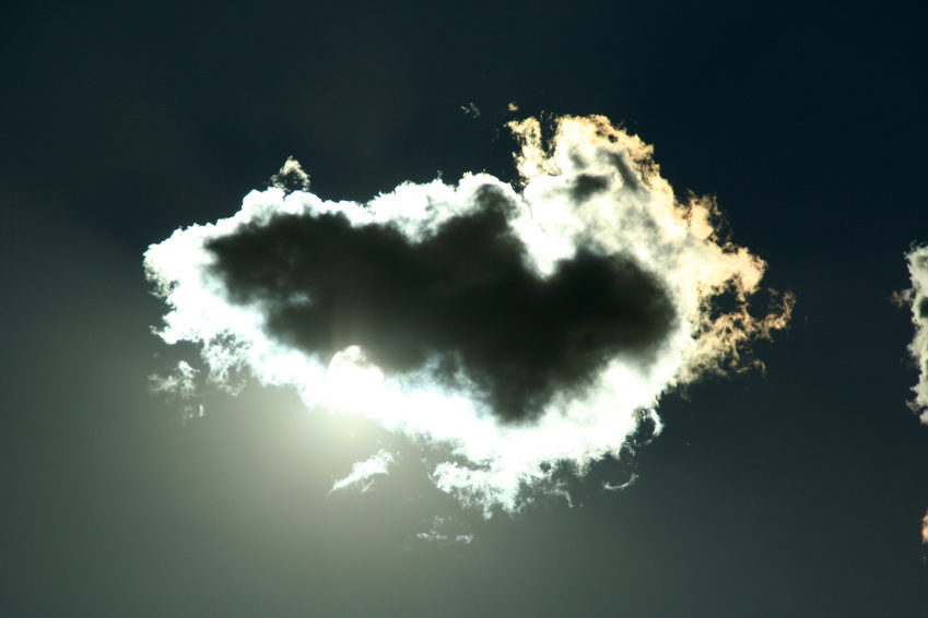 I am the black heart of this cloud.