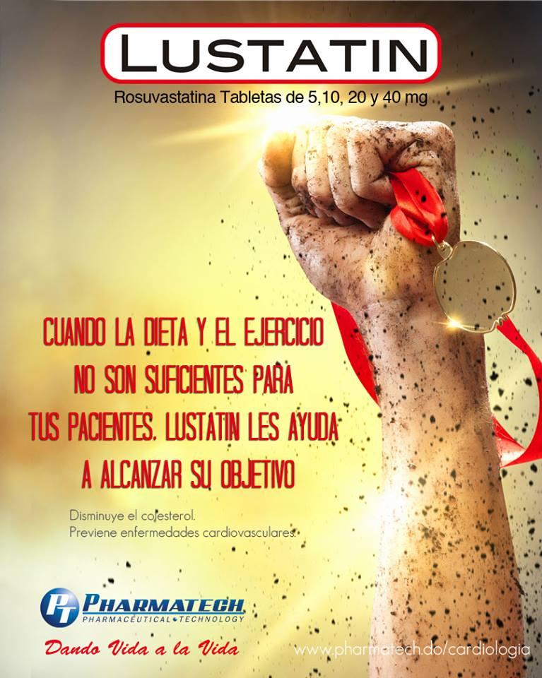 Lustatin  es distribuido por Pharmatech en la República Dominicana.