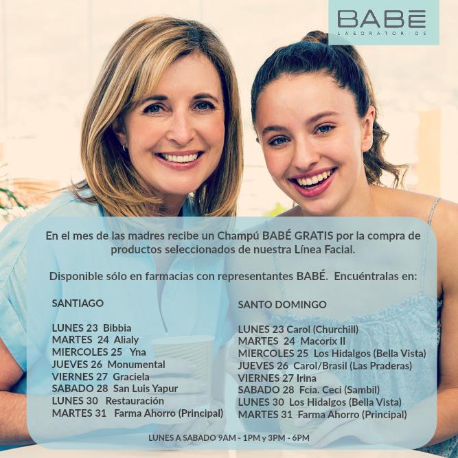 Calendario Representantes BABÉ en farmacias semana 16 de mayo 2016. Este calendario es actualizado los lunes en nuestra página de Facebook, Instagram y el Blog BABÉ.
