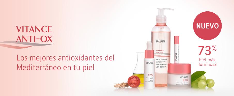 Accede a nuestro  sitio web BABÉ  para conocer los productos que ofrece la línea  Vitance Anti-Ox .