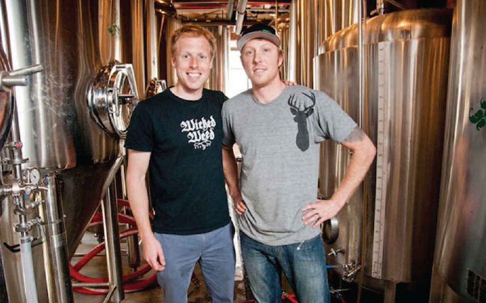 Luke and Walt Dickinson of Wicked Weed Brewing in North Carolina.