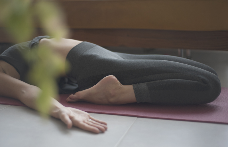 Pose: Supta Virasana (Reclining Hero Pose)