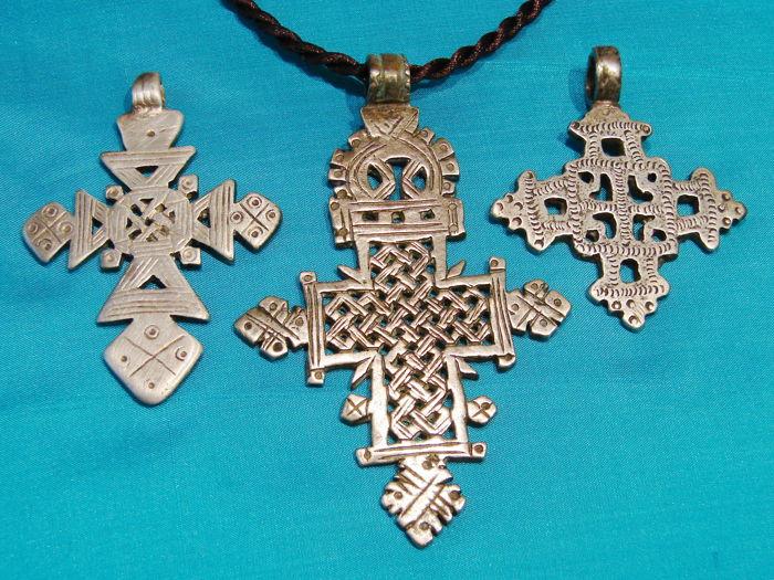 Silver Coptic Pendants