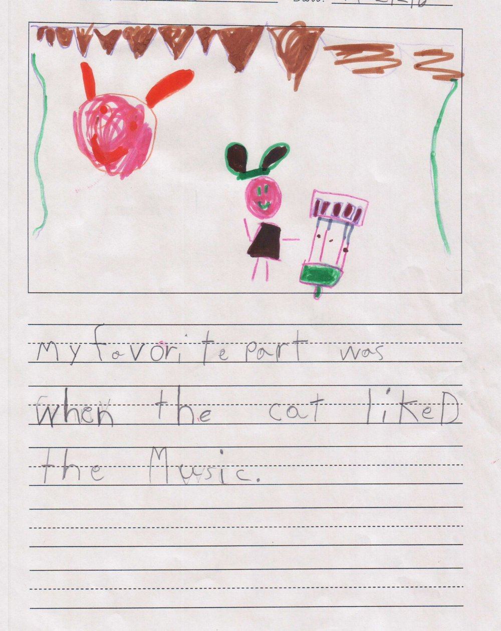 """My favorite part was when the cat liked the music."" - A student from Scarborough Elementary/Houston ISD."
