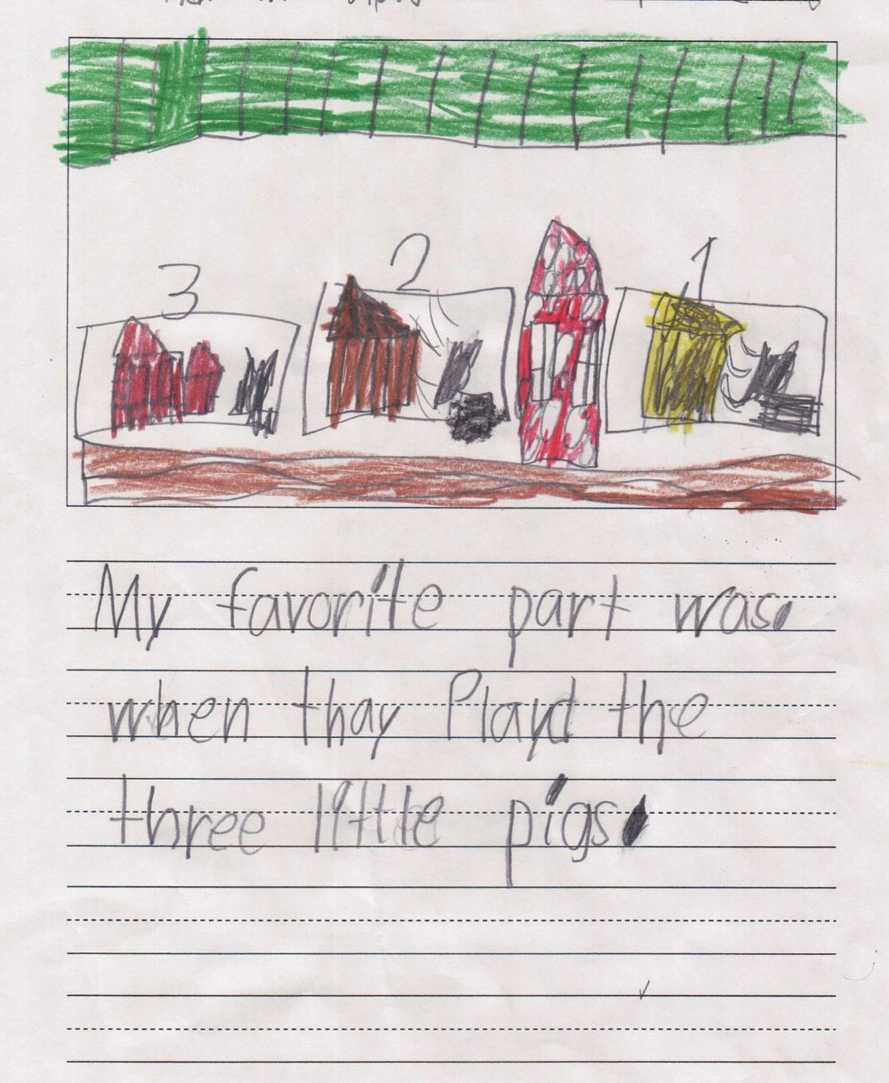 """My favorite part was when they played the three little pigs."" - A student from Scarborough Elementary/Houston ISD."