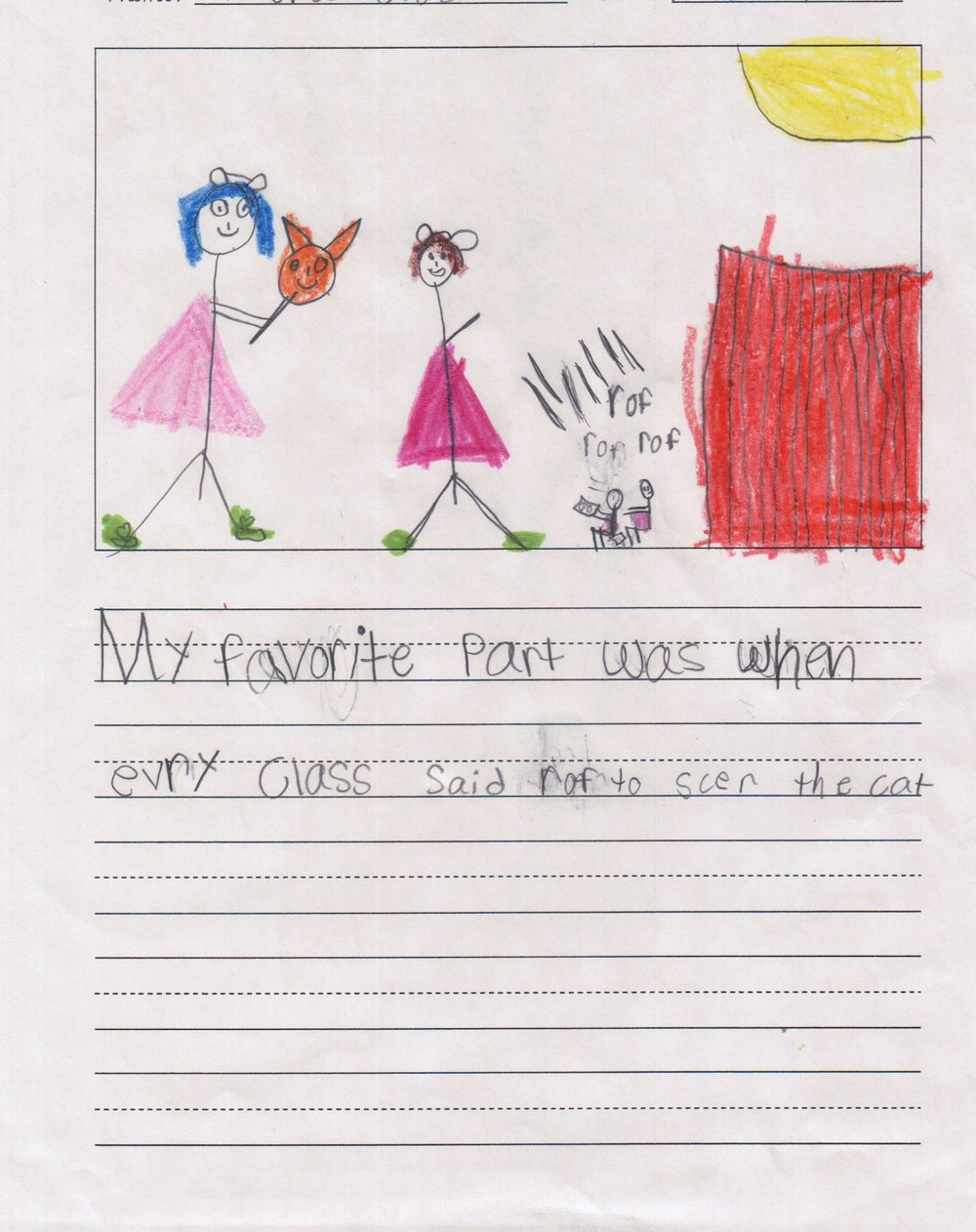 """My favorite part was when every class said ruff to scare the cat."" - A student from Scarborough Elementary/Houston ISD."