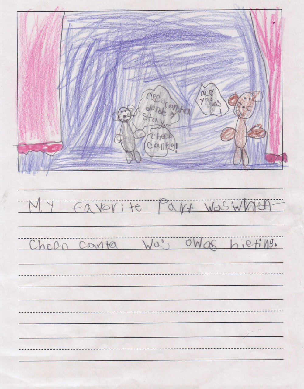 """My favorite part was when Chico Canta was always hiding."" - A student from Scarborough Elementary/Houston ISD."