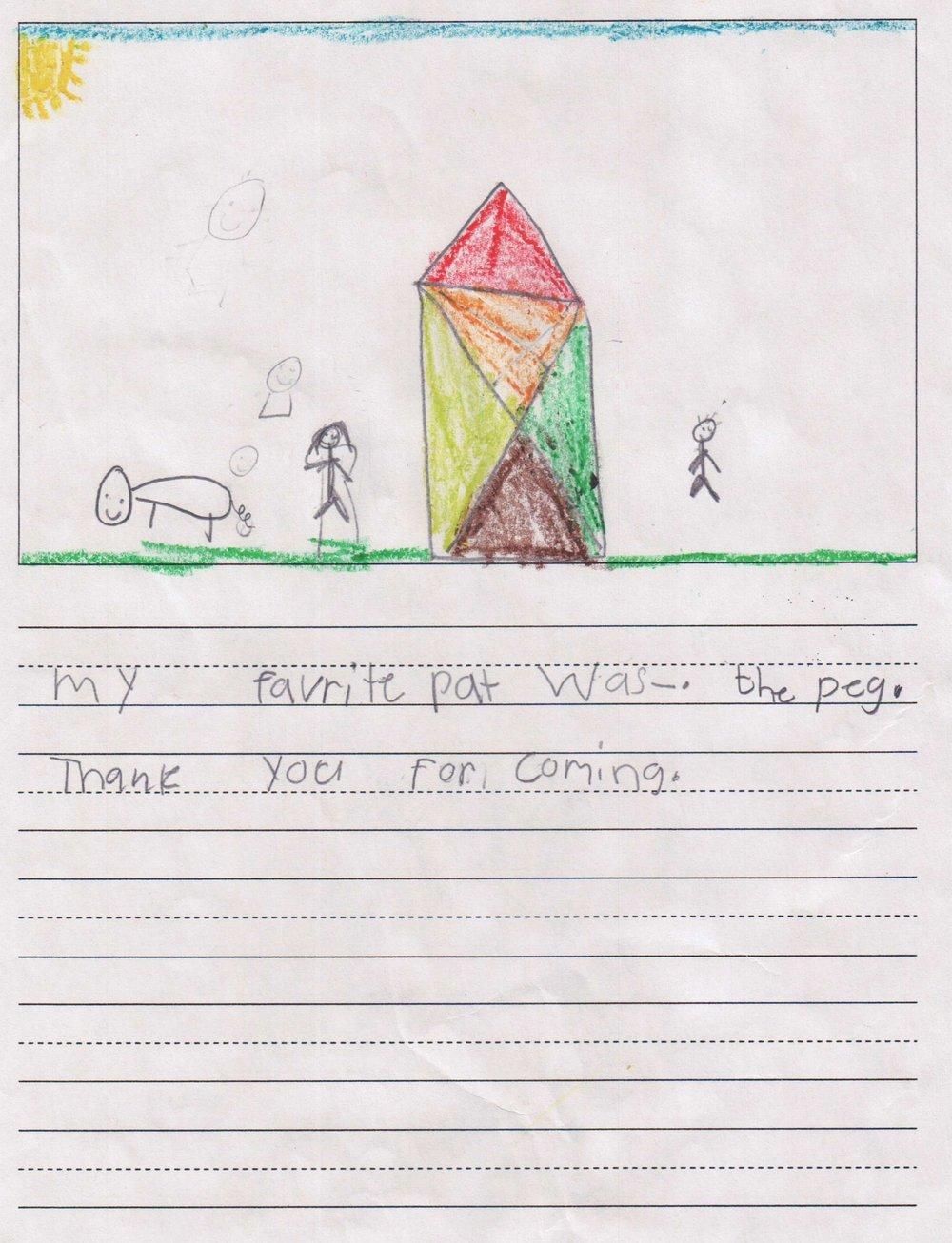 """My favorite part was the pig. Thank you for coming."" - A student from Scarborough Elementary/Houston ISD."