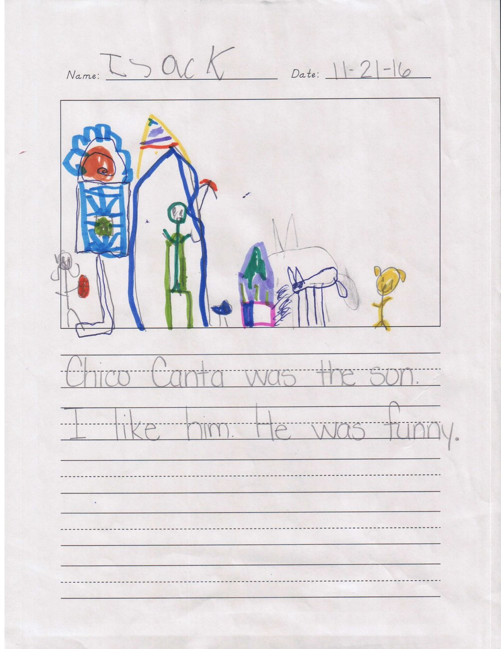 """Chico Canta was the son. I like him. He was funny."" - A student from Scarborough Elementary/Houston ISD."