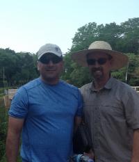 Luis Camacho and Troy Spradling. Location:                                                 San Jose de los Arroyos, Paraguay