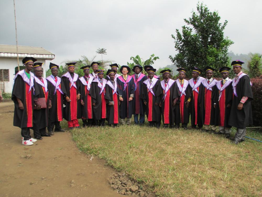 Alpha Batch in Graduation Robes.JPG
