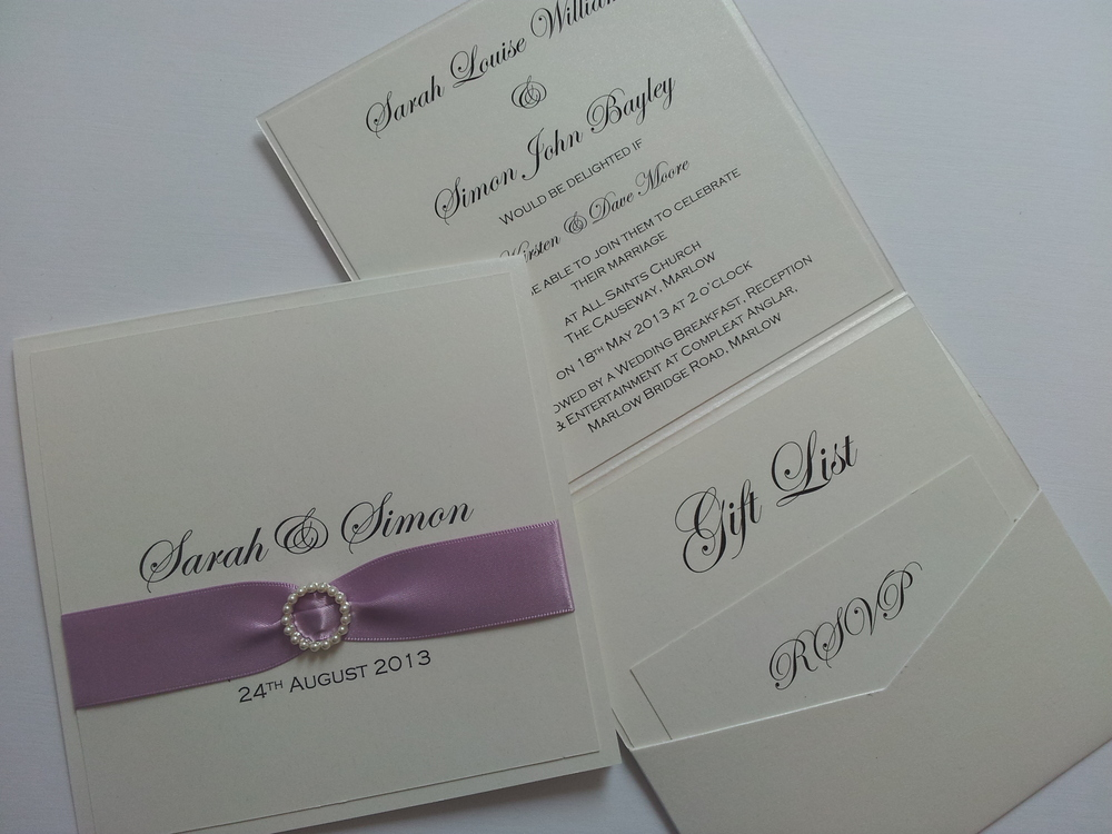 Pocketfold Weddng Invitation