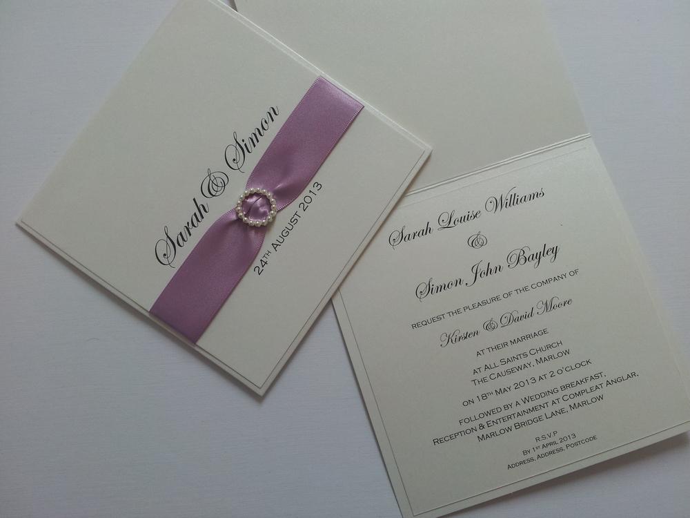 Classic Weddinng Invitation