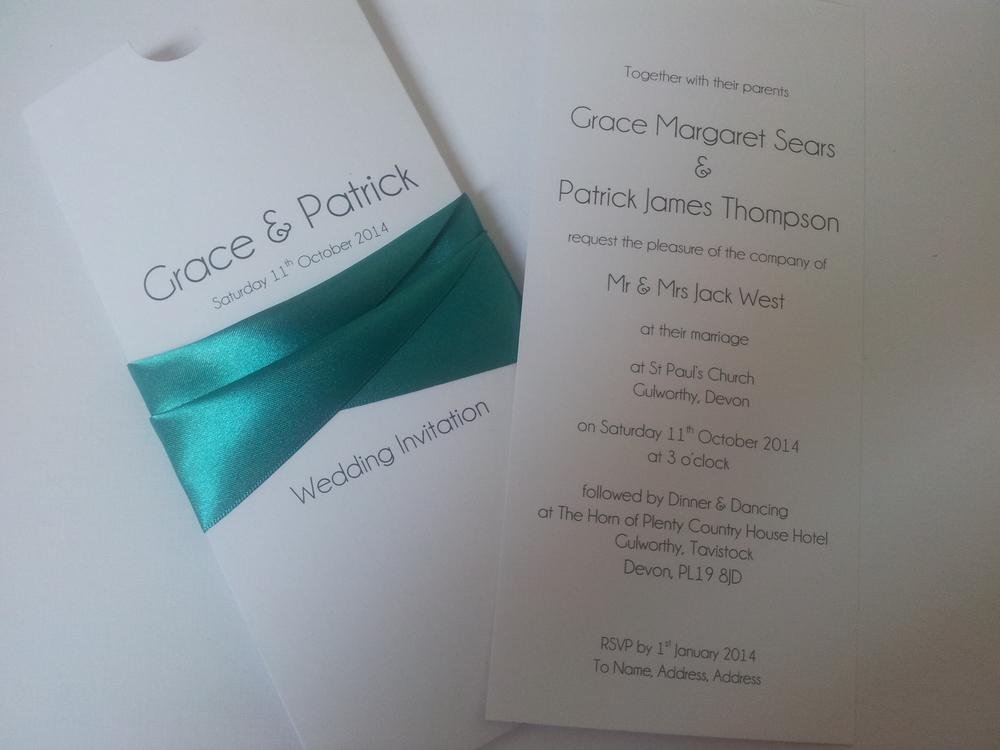 DL Wallet Wedding Invitation