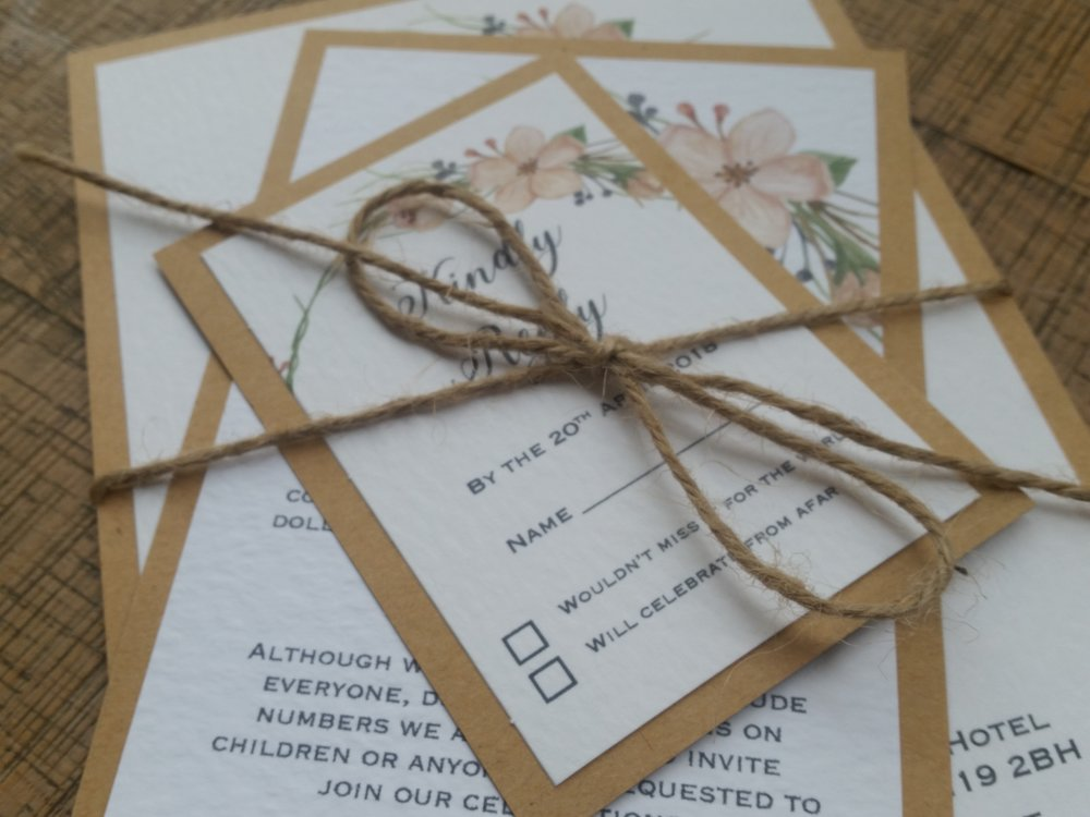 Tia - floral flower wreath rustic kraft wedding invitation (5).jpg