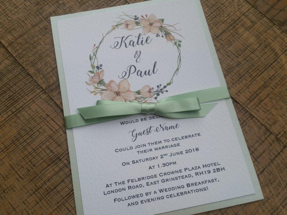 Tia - floral flower wreath rustic green wedding invitation (5).jpg