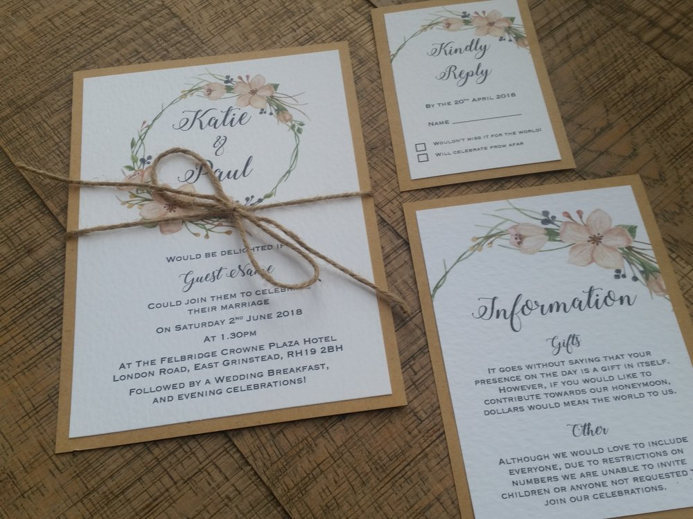 Tia - floral flower wreath rustic kraft wedding invitation (9).jpg