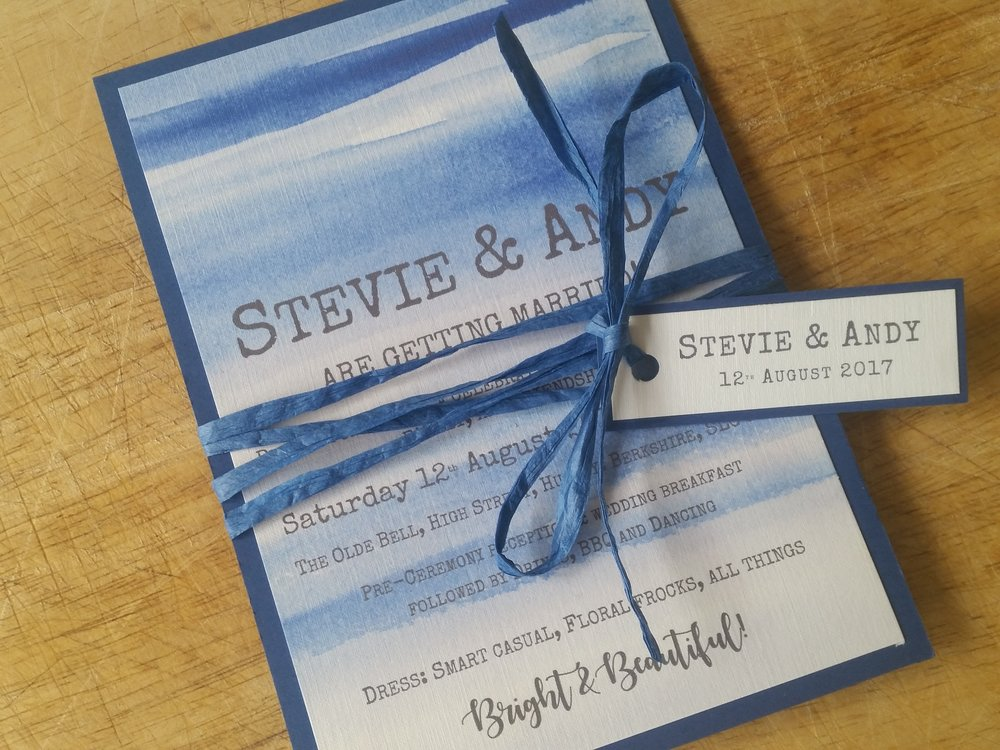 Indigo Collection - handmade blue sky beach destination wedding invitation.jpg