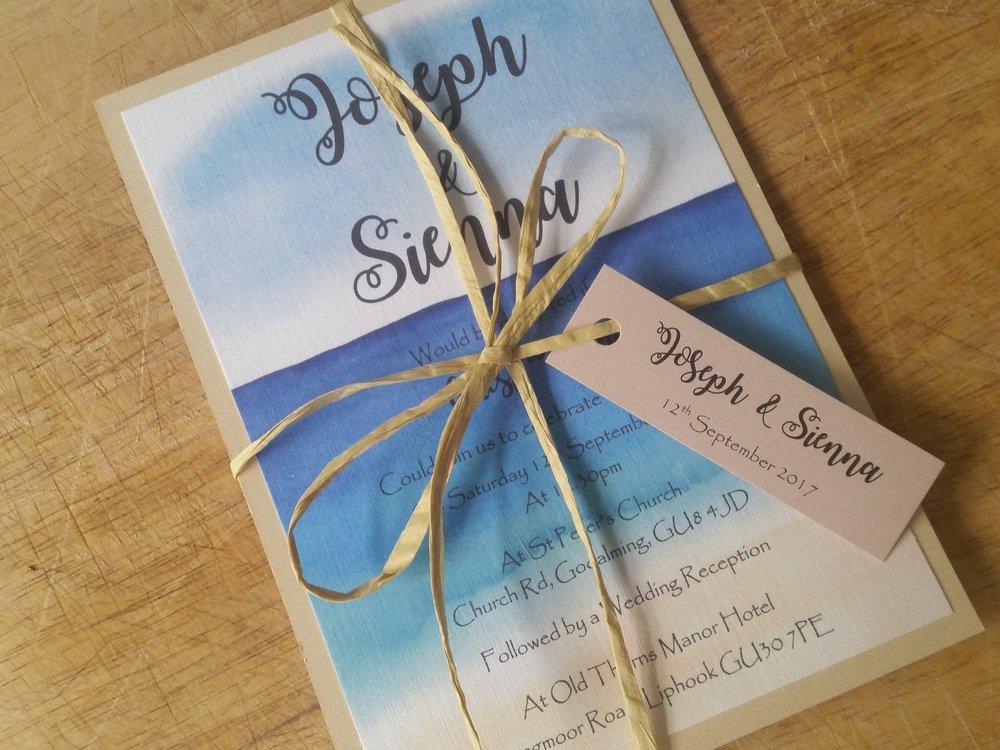 Havana Collection - handmade beach sun sea destination wedding invitation wedding tag rustic string2.jpg