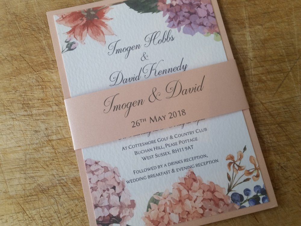 Penny Collection - Summer Vintage Floral Wedding Invitation Blooming Hydrangea and garden flowers, botanical natural hydrangeav1.jpg