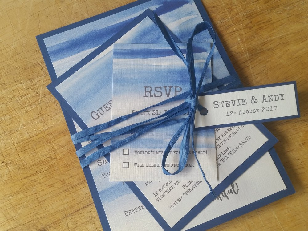 Indigo Collection - handmade blue sky beach destination wedding invitation6.jpg