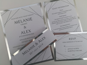 Max Collection, handmade, modern, contemporary wedding invitations, simple geometric black lines. Layered onto metallic silver cardstock2.jpg