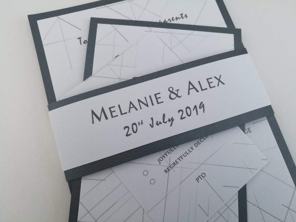Jack Collection - handmade wedding invitation, modern contemporary simple geometric background, triangles pattern.jpg
