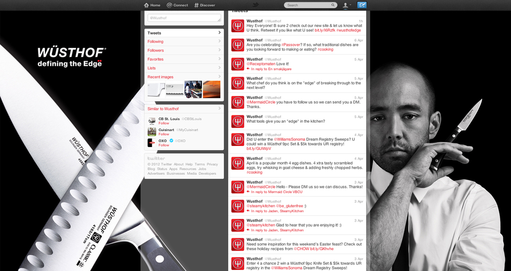 CUSTOMIZED TWITTER PAGE