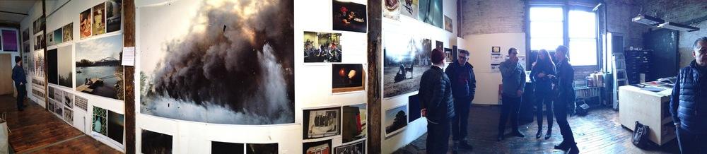 Studio Image,Peter Funch Studio, Greenpoint, Brooklyn Photo Credit: Cincala Art Advisory