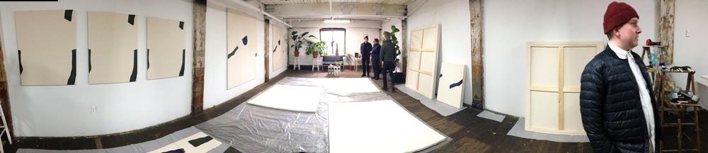 Studio Image,Landon Metz Studio, Greenpoint, Brooklyn Photo Credit: Cincala Art Advisory