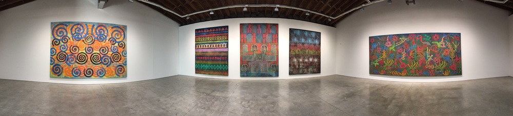 Exhibition Image,   Philip Taaffe  , Luhring Augustine, Bushwick, New York.   Photo Credit: Cincala Art Advisory