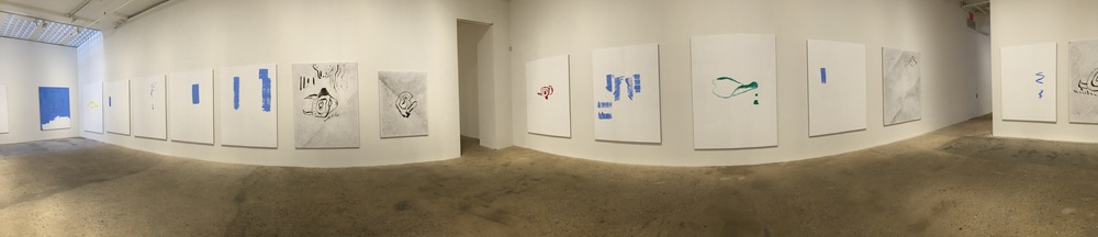 Exhibition Image,  Michael Krebber , Greene Naftali, New York   Photo Credit: Cincala Art Advisory