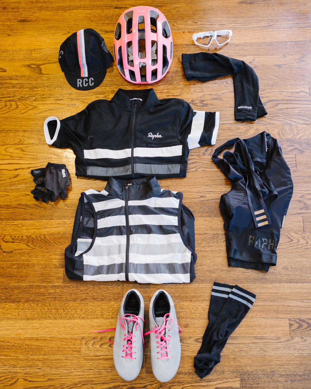 On the bike: apparel