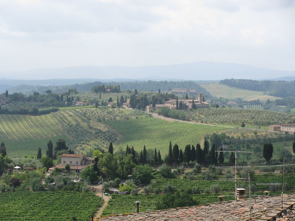 Looking out from San Gimignano