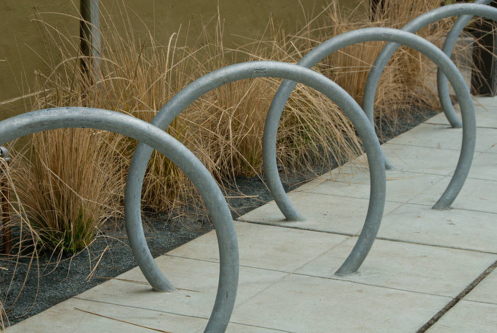 Detail: bicycle racks & landscape