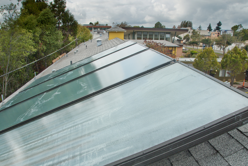 Solar Thermal panels at the roof