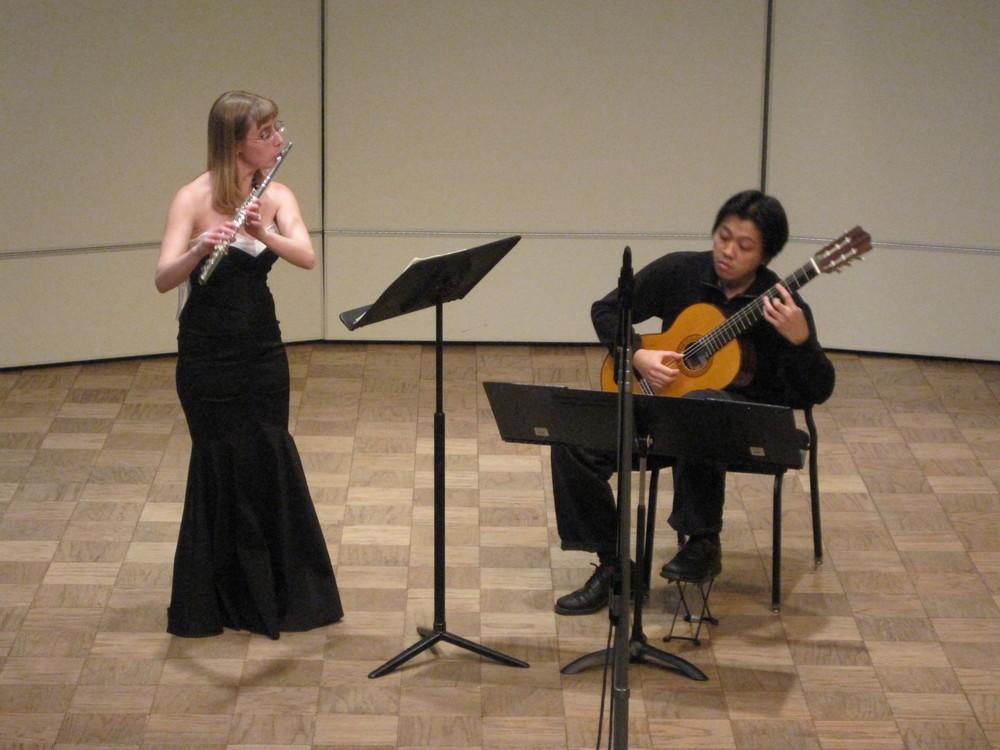 Stefanie Abderhalden and Nathan Manimtim