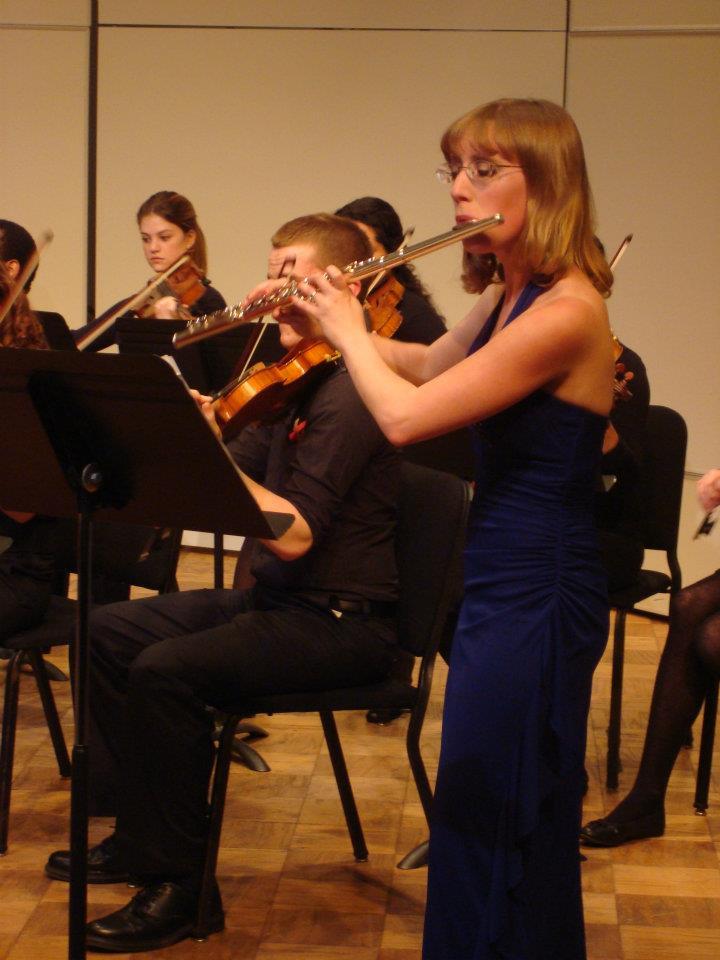 Stefanie Abderhalden with Illinois State University Chamber Orchestra