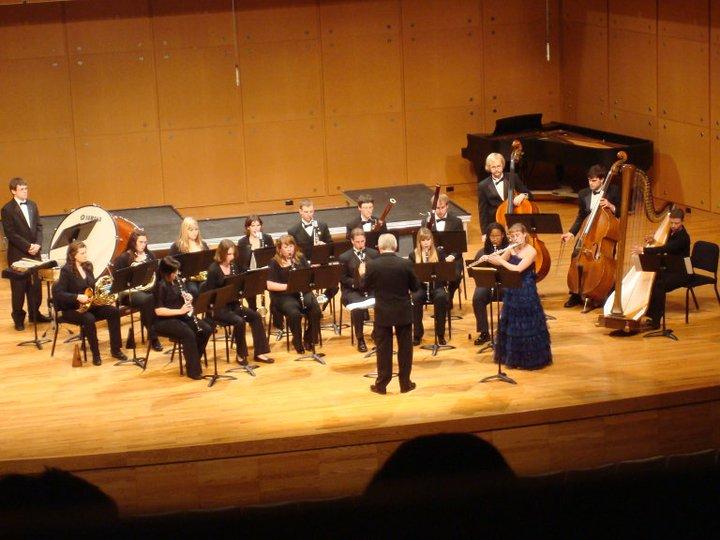 Stefanie Abderhalden with Illinois State University Wind Symphony