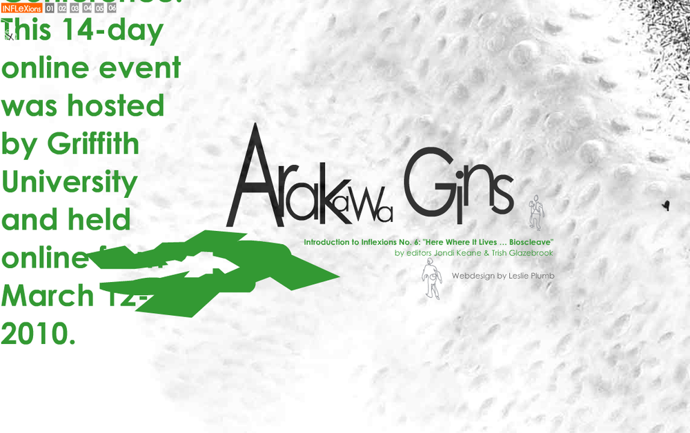 Arawaka & Gins: A special Inflexions issue