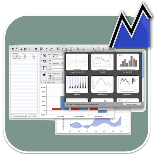 Powerful 2D plotting software. Interface allows  a high degree of graph customisation and formatting with realtime updating. The software includes curve fitting and regression functions. Clean graphical output in multiple format types.