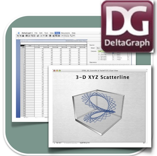 2D and 3D graphing software. Easy to use interface with Panatone colour matching and various output options. Images can be exported in a number of formats.