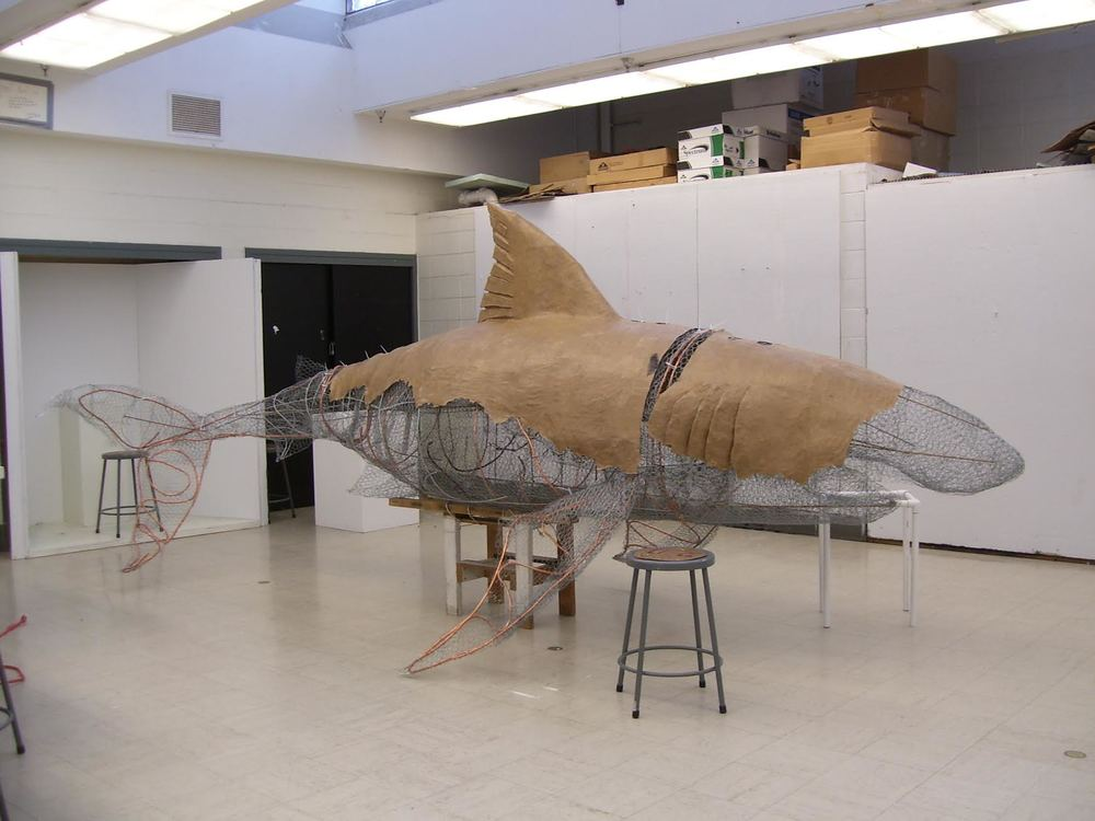 "Did somebody say ""giant floating shark""?"