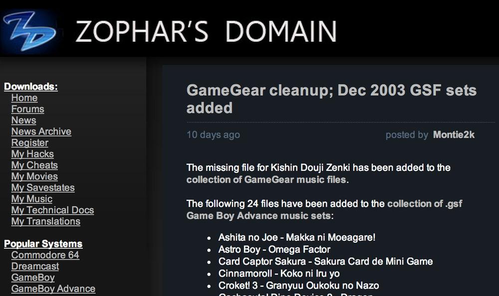 Zophar's Domain
