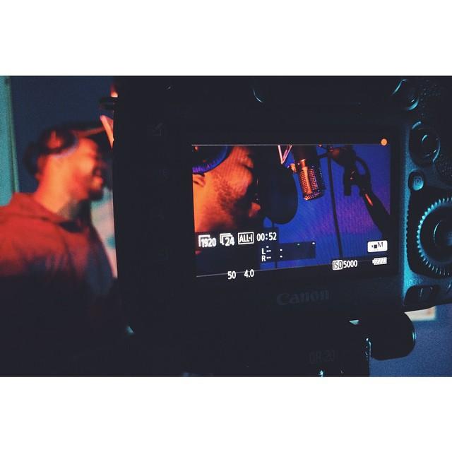 Epic studio shoot with @emmanuelthesaint today. ETS crew on point @tannerbaillargeon. #scottbarberfilm