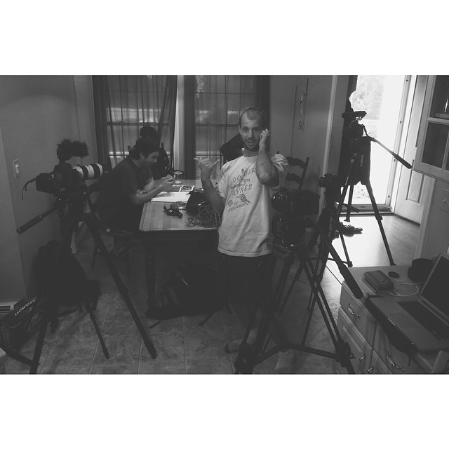Luckily everyone's got a DSLR this day in age so we were able to do a five camera setup to get the last needed narration for #ReadyToLive which documents the #icelandroadie. So stoked on this project. #scottbarberfilm