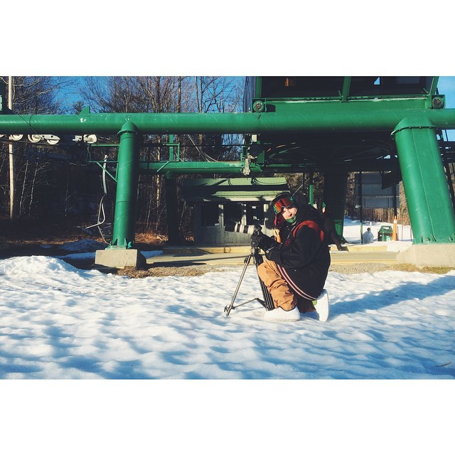 We got @shredwise on location shooting and slaying for @beastly_volumes at Gunstock. First shoot of the season! #beastlyvolumes #scottbarberfilm