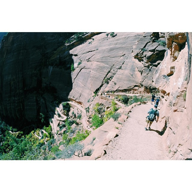Holy switchbacks in Zion while hiking up to #AnglesLanding. #theGreatSend