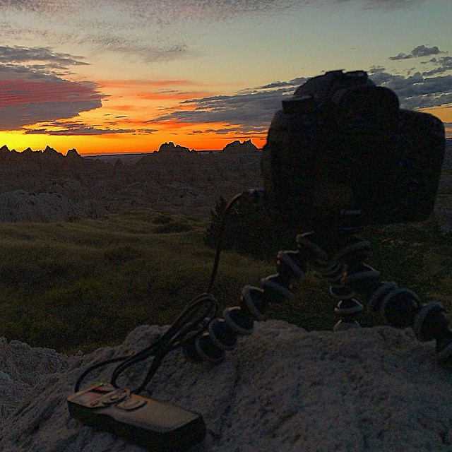 Lapsing the sunrise in the Badlands. #scottbarberfilm #thegreatsend