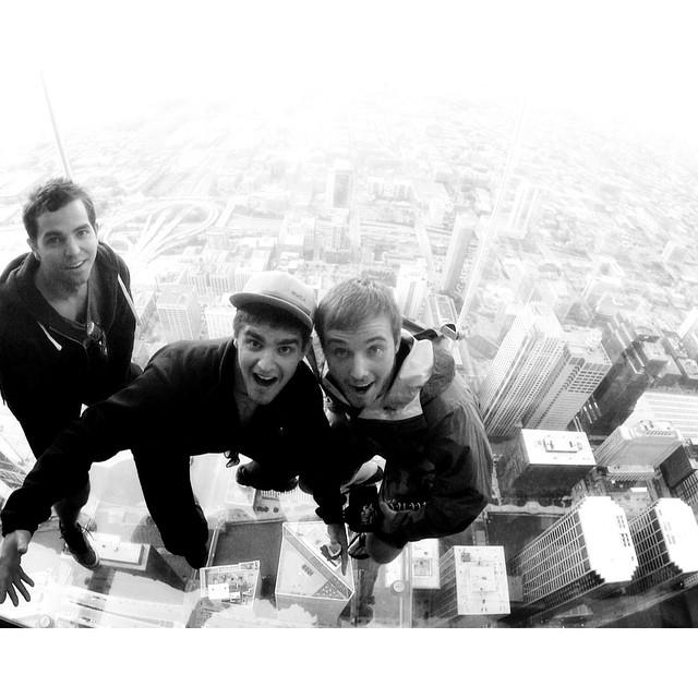 Willis Tower walking on air. #theGreatSend @shaynefalco @itsallchad775